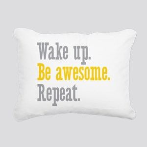 Wake Up Be Awesome Rectangular Canvas Pillow