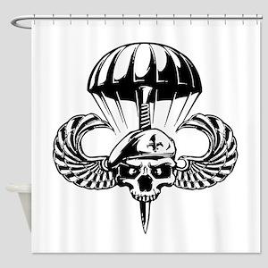 Paratrooper Skull Shower Curtain