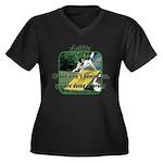 Agility Fun! Women's Plus Size V-Neck Dark T-Shirt