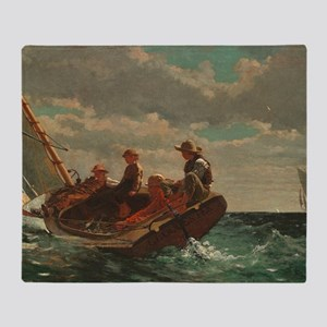 Winslow Homer - Breezing Up (A Fair  Throw Blanket