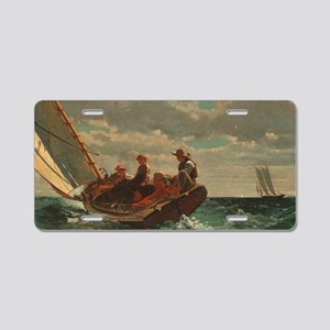 Winslow Homer - Breezing Up Aluminum License Plate