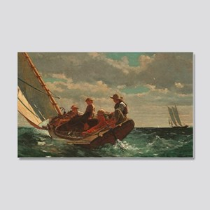 Winslow Homer - Breezing Up (A Fa 20x12 Wall Decal