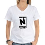Video Game Is Rated N Women's V-Neck T-Shirt