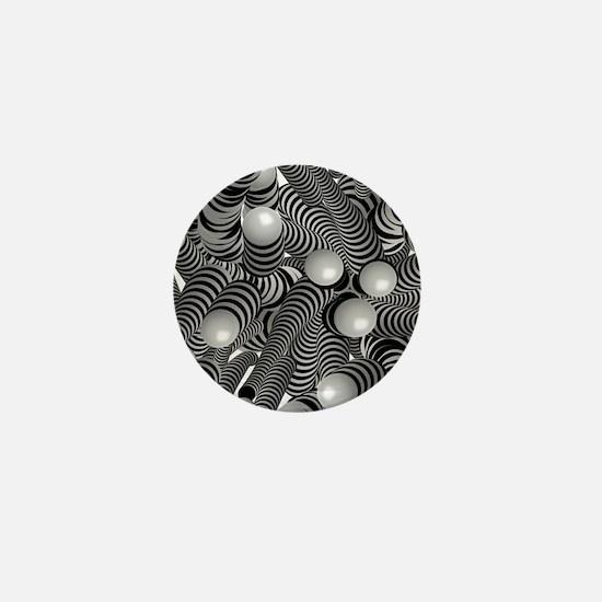 doodle fun bw Mini Button