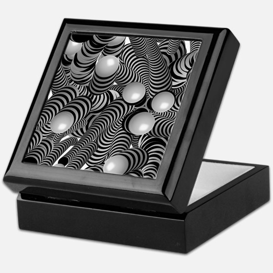 doodle fun bw Keepsake Box