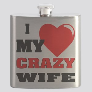 I Love My Crazy Wife Flask