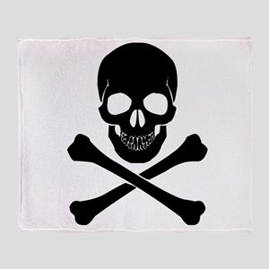 Skull And Crossbones Throw Blanket