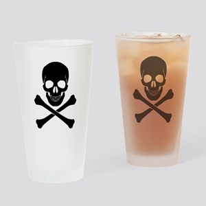 Skull And Crossbones Drinking Glass