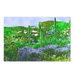 Four Saguaros & Wildflowers Postcards (Package of