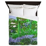 Four Saguaros & Wildflowers Queen Duvet