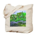 Four Saguaros & Wildflowers Tote Bag