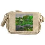 Four Saguaros & Wildflowers Messenger Bag