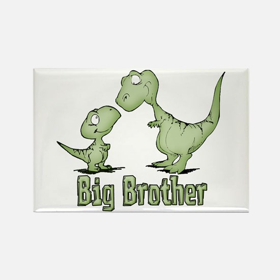Dinosaurs Big Brother Rectangle Magnet