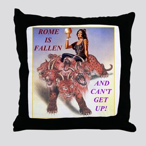 Rome Is Fallen Throw Pillow