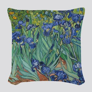 Vincent van Gogh - Irises Woven Throw Pillow