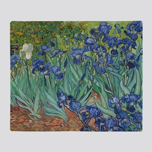 Vincent van Gogh - Irises Throw Blanket