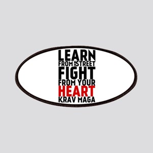 Learn from the street Krav Maga (red heart) Patche