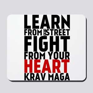 Learn from the street Krav Maga (red heart) Mousep