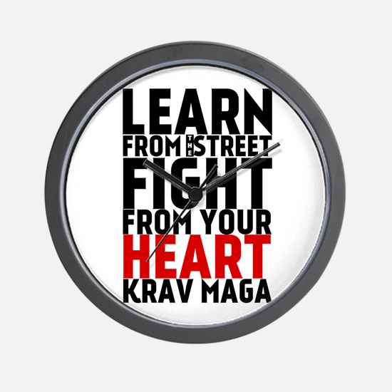 Learn from the street Krav Maga (red heart) Wall C