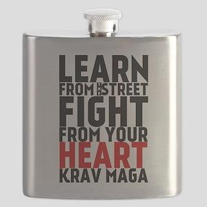 Learn from the street Krav Maga (red heart) Flask