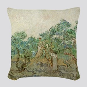 Vincent Van Gogh - The Olive O Woven Throw Pillow