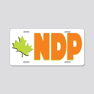 NDP Aluminum License Plate