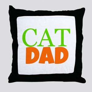 Cat Dad Throw Pillow