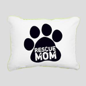 Rescue Mom Rectangular Canvas Pillow