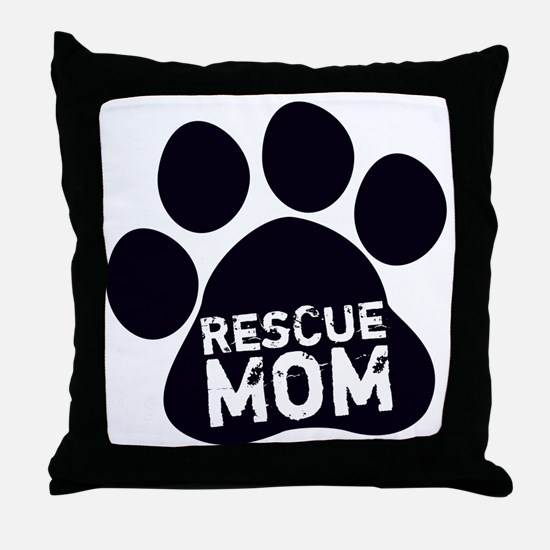 Rescue Mom Throw Pillow