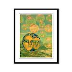 Consciousness Abstract Goddess Framed Panel Print