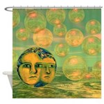Consciousness Abstract Goddess Shower Curtain
