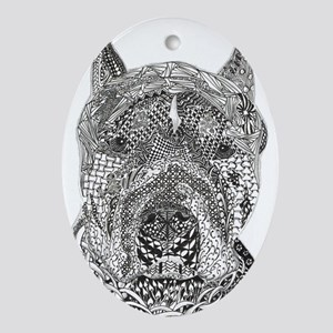 American Pitbull Terrier Ornament (Oval)