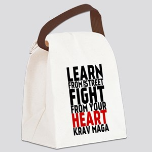 Learn from the street Krav Maga (red heart) Canvas