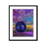Compassion, Violet Goddess Framed Panel Print