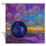 Compassion, Violet Goddess Shower Curtain