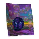 Compassion, Abstract Goddess Burlap Throw Pillow