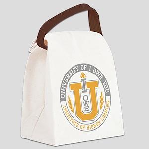 I Owe You University Canvas Lunch Bag