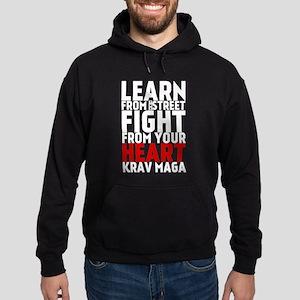 Learn from the street Krav Maga (red heart) Hoodie
