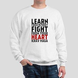 Learn from the street Krav Maga (red heart) Sweats