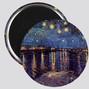 Starry Night over the Rhone. Vintage fine a Magnet