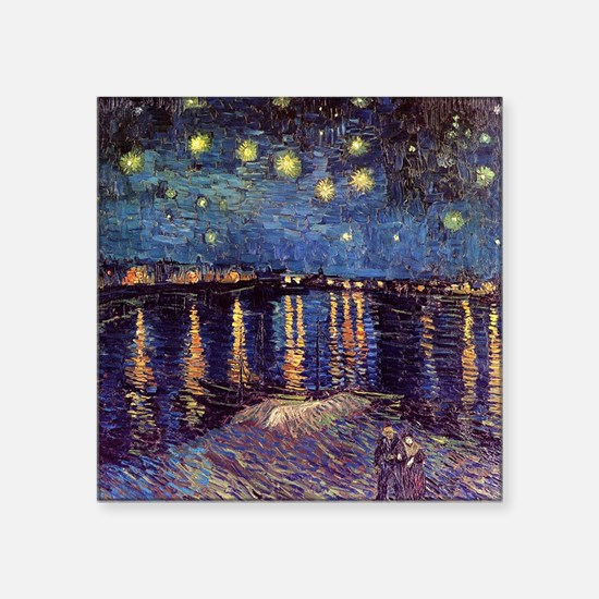 """Starry Night over the Rhone Square Sticker 3"""" x 3"""""""