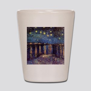 Starry Night over the Rhone. Vintage fi Shot Glass