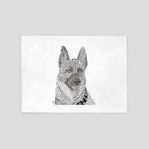 German Shepherd 1 5'x7'Area Rug