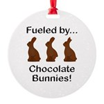 Fuel Chocolate Bunnies Round Ornament