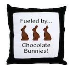 Fuel Chocolate Bunnies Throw Pillow