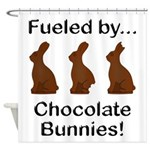 Fuel Chocolate Bunnies Shower Curtain