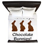 Fuel Chocolate Bunnies King Duvet