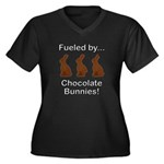 Fuel Chocola Women's Plus Size V-Neck Dark T-Shirt