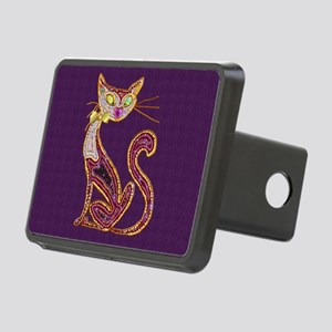 Jeweled Bead-look Cat Rectangular Hitch Cover