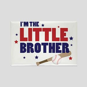 little brother baseball Rectangle Magnet